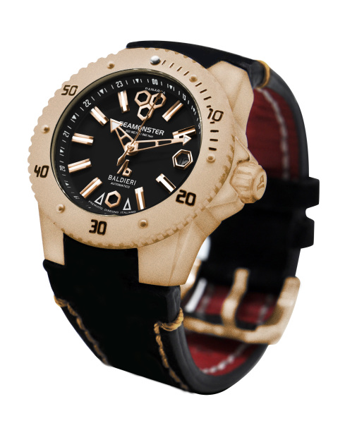 rose gold,watches, seamonster, alessandro baldieri, lady watch, 38mm, black dial, diving watch,
